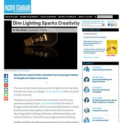 Dim Lighting Sparks Creativity -