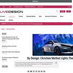 Lighting Designer Christien Methot Lights Nissan Snow Globe