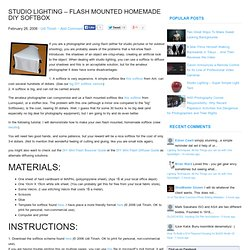 Studio Lighting - Flash Mounted homemade DIY Softbox