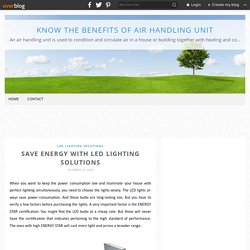 Save Energy with Led Lighting Solutions