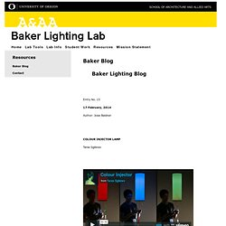 Baker Lighting Lab - University of Oregon