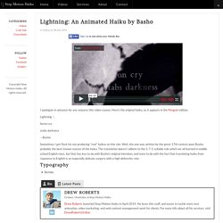 Lightning: An Animated Haiku by Basho - Stop Motion Haiku