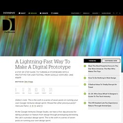 A Lightning-Fast Way To Make A Digital Prototype