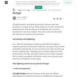 3D lightning- An element of interior design
