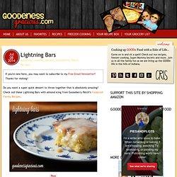 Lightning Bars - GOODEness Gracious