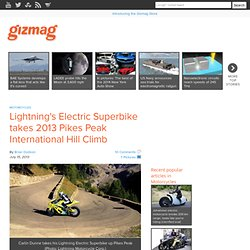 Lightning's Electric Superbike takes 2013 Pikes Peak International Hill Climb