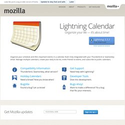 Mozilla Lightning - Project Home