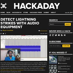 Detect Lightning Strikes With Audio Equipment