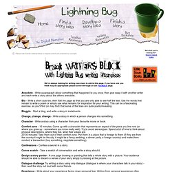 Lightning Bug - Writing Activity Page