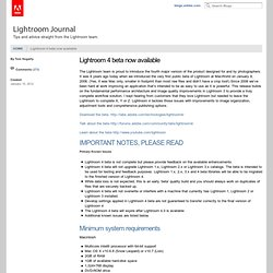 Release Notes Lightroom 4 beta now available « Lightroom Journal