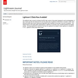 Lightroom 5 Beta Now Available!