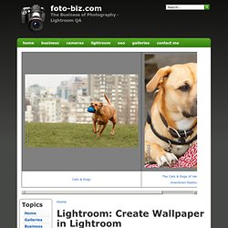 Lightroom: Create Wallpaper in Lightroom | foto-biz.com