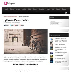 Lightroom – Presets Gratuits