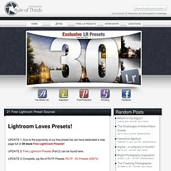 22 Free Lightroom Preset Sources