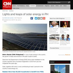 Lights and leaps of solar energy in PH