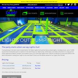 Lights Out! Black-Light Jump Night at Trampoline Park - Air Riderz Aurora