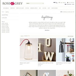 LIGHTING - Stylish lighting - Rose & Grey, Vintage Leather Sofas and Stylish Accessories