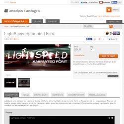 LightSpeed Animated Font