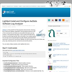 Lighttpd Install and Configure AwStats Software Log Analyzer