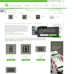 Home Automation Lighting, Light switches, Dimmer switches
