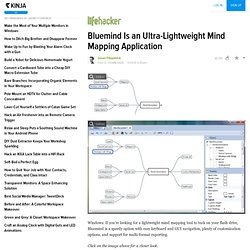Bluemind Is an Ultra-Lightweight Mind Mapping Application
