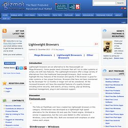 Lightweight Browsers