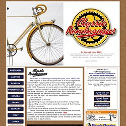 Lightweight Classic Vintage bicycles