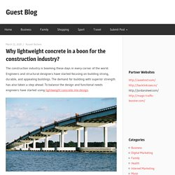 Why lightweight concrete in a boon for the construction industry?