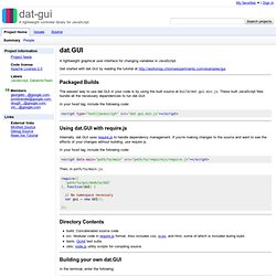 dat-gui - A lightweight controller library for JavaScript.