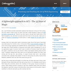 A lightweight approach to ACL - The 33 lines of Magic » Debuggable Ltd