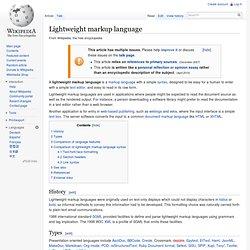 Lightweight markup language