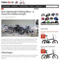 Best Lightweight Folding Bikes - A Choice for Modern People