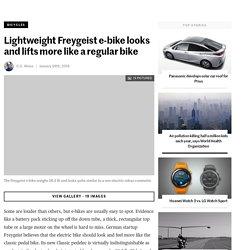 Lightweight Freygeist e-bike looks and lifts more like a regular bike