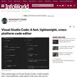 Visual Studio Code: A fast, lightweight, cross-platform code editor