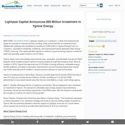Lightyear Capital Announces $95 Million Investment in Ygrene Energy