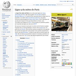 Ligne 9 du métro de Paris