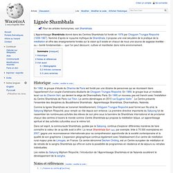 Lignée Shambhala