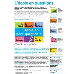 La Ligue des familles - L'école en questions