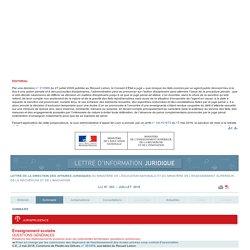 Lettre d'information juridique LIJ