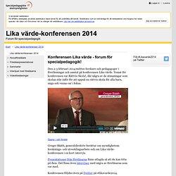 Lika värde-konferensen 2014