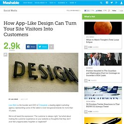 How App-Like Design Can Turn Your Site Visitors Into Customers