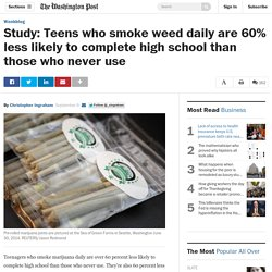 Study: Teens who smoke weed daily are 60% less likely to complete high school than those who never use