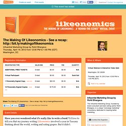 "The Making Of Likeonomics: An Exclusive ""Behind The... - Eventbrite"