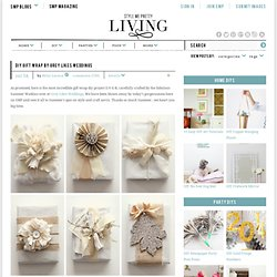 DIY Gift Wrap by Grey Likes Weddings