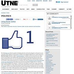 Liking Social Justice - Politics