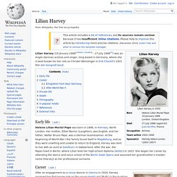 Lilian Harvey - Wikipedia