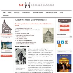 Haas Lilienthal Historic House Museum