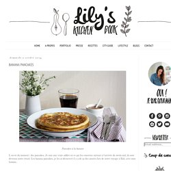 Lily's kitchen book: BANANA PANCAKES