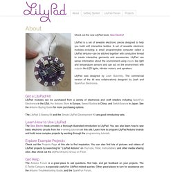 leah buechley - LilyPad Arduino - introduction