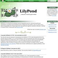 notación musical para todos: LilyPond... notación musical para todos